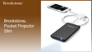 Brookstone Pocket Projector Slim How To Use
