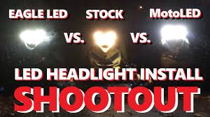 install led eagle h4 headlights ski doo shootout test