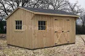 10 x 14 saltbox roof garden storage shed plans blueprints