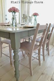 Chalk Paint Dining Room Table Pleasant Mimi S Vintage Charm Antoinette Chairs