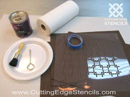 Stenciling Placemats Decorating Ideas For Kitchen Decor