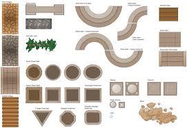 outdoor furniture top view set 12 for landscape design vector