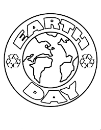 Earth Day Campaign Logo Coloring Page