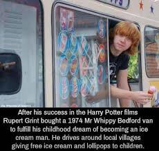 100 Rupert Grint Ice Cream Truck Such A Good Guy 3 Pinterest Harry Potter Memes Harry Potter