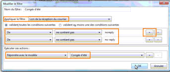 message d absence bureau rédiger un message automatique dans outlook thunderbird