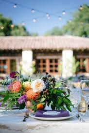 Rustic Ranch Wedding Low Centerpieces With Unusual Flowers Wildflowers