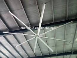 without light industrial type hvls big ceiling fan to control