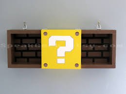 Mario Question Mark Block Lamp by Super Mario Bros Shelf Shadow Box Shelf Modern Question