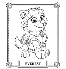 Paw Patrol Coloring Pages Robo Hard Sky