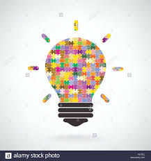 Creative Puzzle Light Bulb Idea Concept Background Design For Poster Flyer Cover Brochureeducation Business Abs