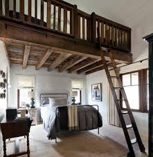 Loft Bedroom Farmhouse With Roman Shades Stone Floor