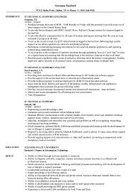 Download IT Technical Support Resume Sample As Image File