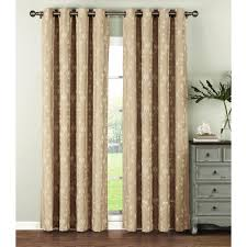 Geo Shower Panels by Window Elements Semi Opaque Geo Gate Embroidered Faux Linen Extra