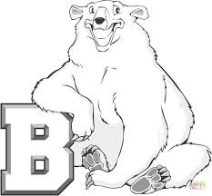 Click The B Is For Bear Coloring Pages To View Printable