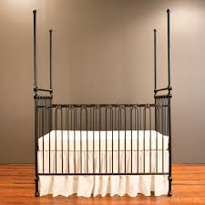 Bratt Decor Crib Used by Canopy Crib Distressed Black