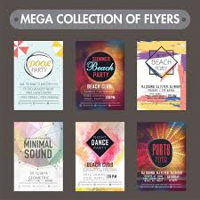 Mega Collection Of Music Party Flyers Templates Or Invitation Card Designs