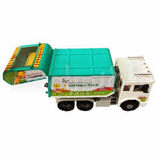 100 Garbage Truck Tab Daesung Door Openable Friction Toys Models Made In