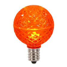 club pack of 25 led g50 orange replacement light bulbs