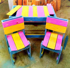 Art Style Pallet Kids Sitting Set