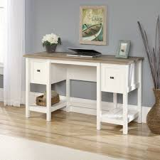 Sauder Beginnings Dresser Soft White by Cottage Road Desk 418072 Sauder