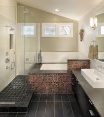 Shower Tub Combo Bathroom Contemporary With Slate Tiles San ... Nice Bathroom Design San Francisco Classic Photo 19 Of In Budget Breakdown A Duo Give Their Interior Company Regan Baker West Clay Grey And White Luxury Woodnotes Novelty Haas Lienthal House Victorian Bath San Francisco Otograph By Remodel Steam Shower Black Hex Floor Tiles Remodeling Pottery Barn Kids With Marble Tile Bathroom Rustic And Vanities Lovely Restoration Hdware Locationss Home Faucets New Traditional House Tour Apartment Therapy Reveal Meets Modern A