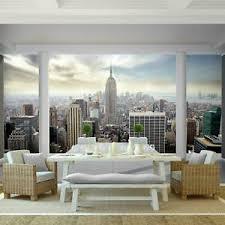 details zu fototapete balkon new york vliestapete blau wohnzimmer schlafzimmer flur modern