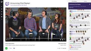 Twitch s new Chat Replay will record live chat rooms for playback