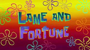 That Sinking Feeling Spongebob Transcript by Lame And Fortune Transcript Encyclopedia Spongebobia Fandom