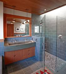 Small Trough Bathroom Sink With Two Faucets by Bathroom Provides A Transitional Design Perfect With Trough Sinks