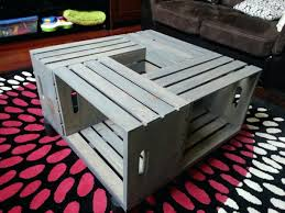 Crate Coffee Table Ideal For Interior Decor Image Of Wood Also