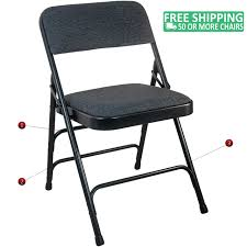 Advantage Black Padded Metal Folding Chair - Black 1-in Fabric Seat  [DPI903F-BlkBlk] Gci Outdoor Quikeseat Folding Chair Junior New York Seat Design 550 Each 6pcscarton Offisource Steel Chairs With Padded And Back National Public Seating Grey Plastic Safe Set Of 4 50x80 Cm Camping Fishing Portable Beach Garden Cow Print Wood Brown Color 4pk Chair Terje Black Replacement Vinyl Pad For Resin Wooden Seat Over Isolated White Background Mahogany