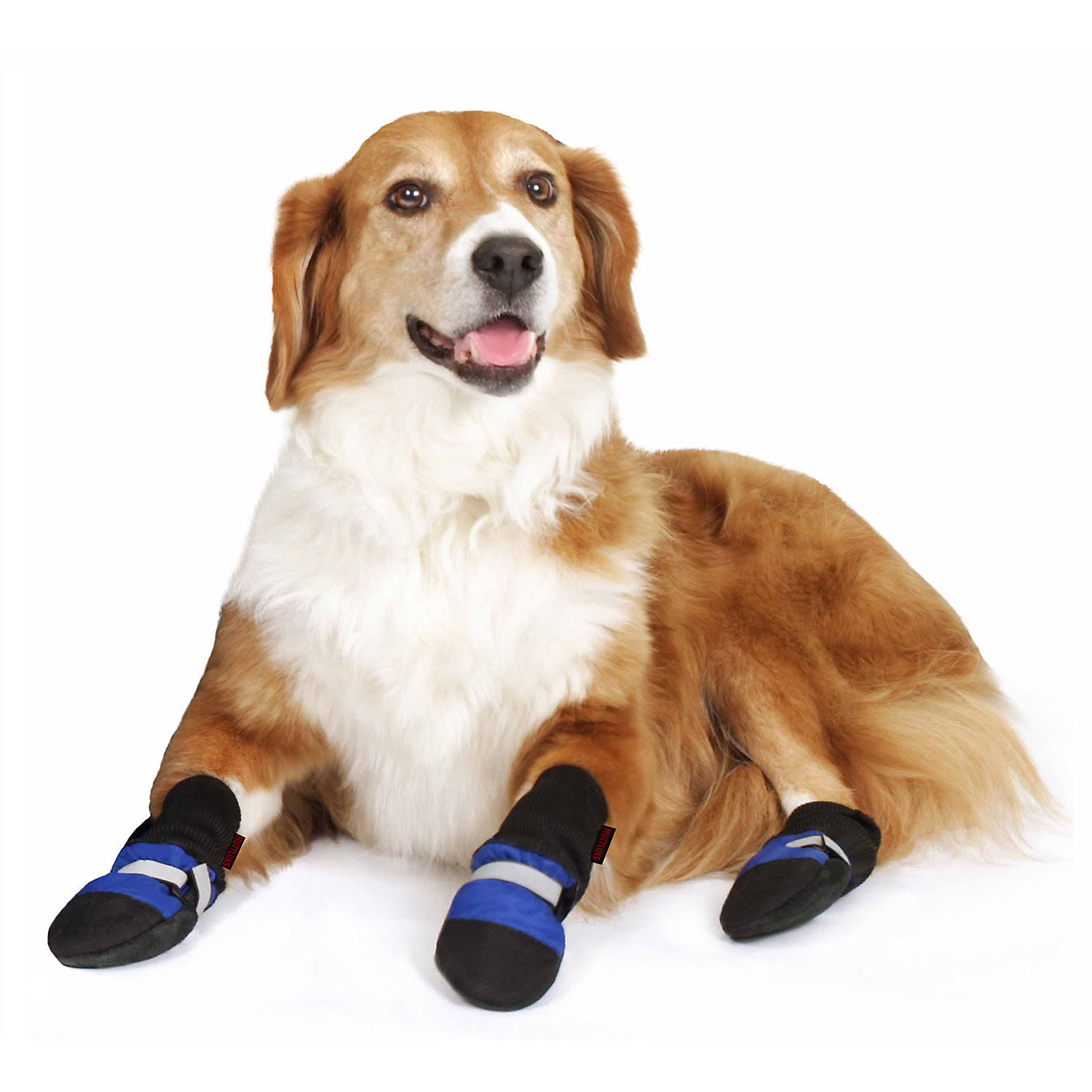 "Muttluks 001012 Fleece Lined Dog Boots - Set of 4, Blue, Itty Bitty Up To 1.5""-2.25"""