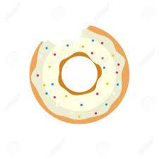 Vector donut icon Sugar donut illustration Caramel donut sign Donut with topping