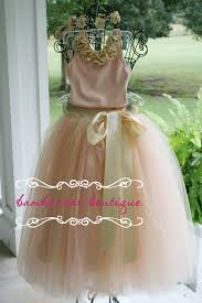 Flower Girl Tutu Dress Tulle Rose Gold Blush