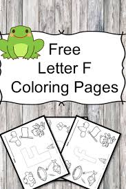 Letter F Coloring Pages Free For Preschool Or Kindergarten