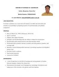 Nurse Resume Format Sample For Fresh Graduate