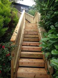 awesome faire un escalier de jardin en bois pictures design