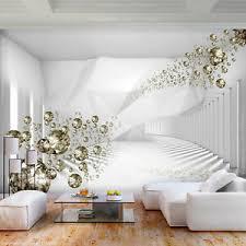 details zu vlies fototapete 3d optik tunnel groß diamant tapete wandbilder wohnzimmer