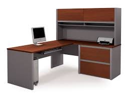 bestar connexion l shaped desk and hutch