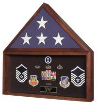 Burial Flag Medal Display Case Document Holder