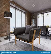 100 What Is A Loft Style Apartment Fashionable Designer Leather Rmchair With Black Floor Lamp In