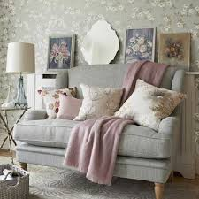 Living Room Decorating With Gray And Pink Color Combination