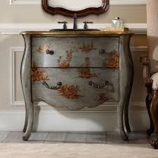 Distressed Cherry French Country Bathroom Vanity by Hannah 37 Inch Chest Bathroom Vanity By Cole U0026 Co Designer Series