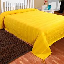 jeté de lit ou de canapé rajput tissé jaune 150 x 200 cm