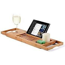 Diy Bathtub Caddy With Reading Rack by Amazon Com Umbra Aquala Bamboo Bathtub Caddy Natural Home U0026 Kitchen