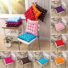 Comfortable Seat Pads Garden Kitchen Dining Chair Cushions Tie Room With Ties Loading Furniture Foam Replacement
