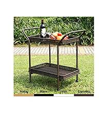 Amazon Jeco Wicker Patio Serving Cart in Black Outdoor And