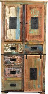 sit stauraumschrank jupiter aus recyceltem altholz höhe 180 cm shabby chic vintage