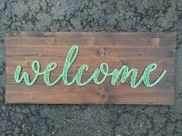 MADE TO ORDER Script Welcome String Art Board