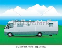 Motorhome Rv Vehicule Vector